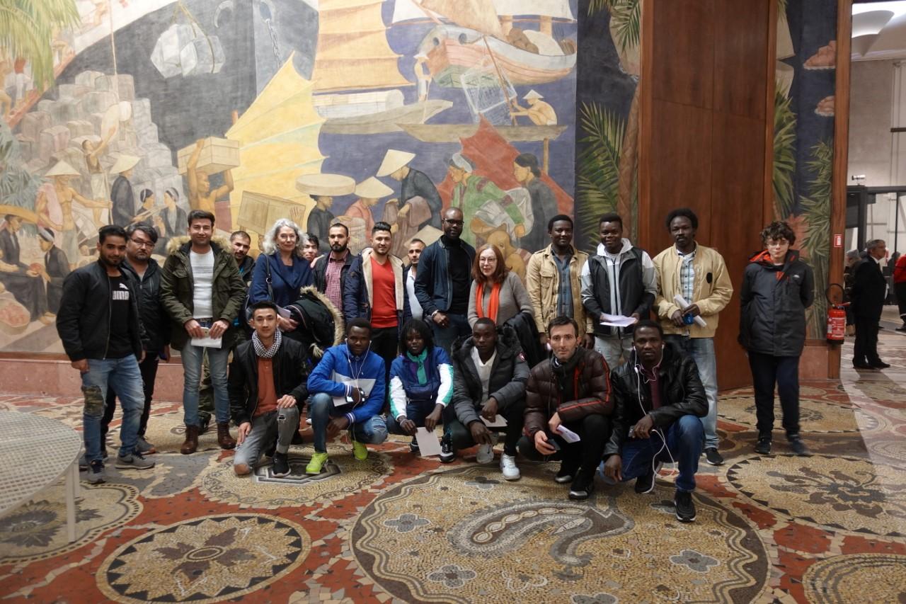 """Novembre 2019 - groupes """"réfugiés"""" - Avant le concert, musée National de l'histoire de l'immigration"""