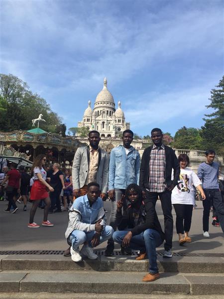"""Avril 2019 - Sortie à Montmartre avec le groupe """"réfugiés""""."""
