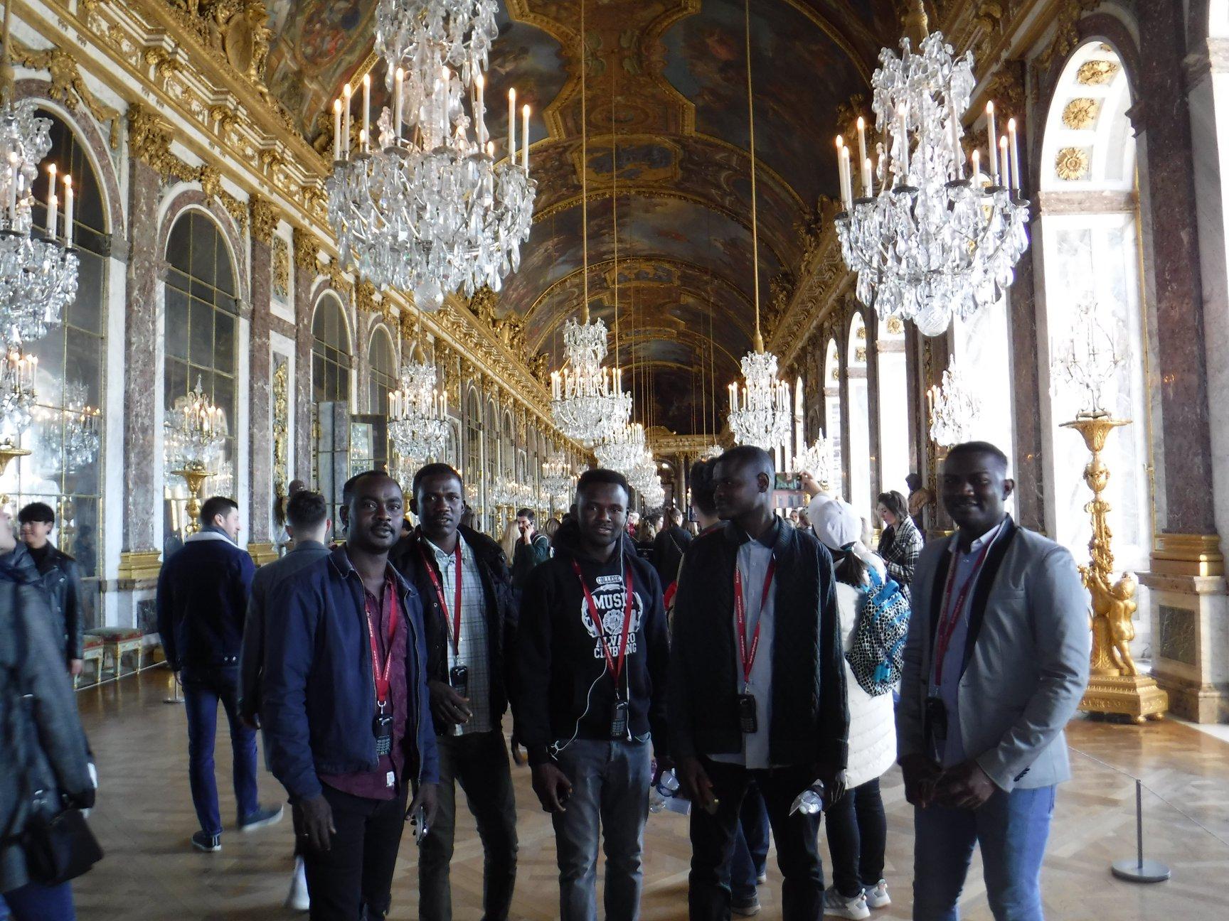 """Février 2019 - Sortie à Versailles avec le groupe """"Réfugiés""""."""